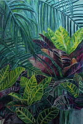 Moderne Kunst Painting - Hemingways Garden by Charlotte Von Elm