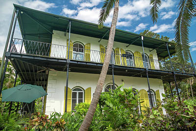 Mellow Yellow Rights Managed Images - Hemingways Home Key West Beautiful Florida Royalty-Free Image by Betsy Knapp