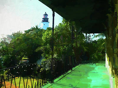 Photograph - Hemingways Lighthouse by Alice Gipson