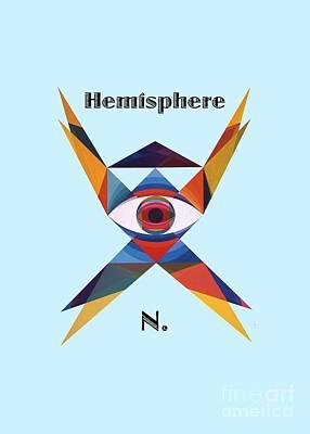 Painting - Hemisphere N. Text by Michael Bellon