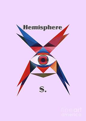 Painting - Hemisphere S. Text by Michael Bellon