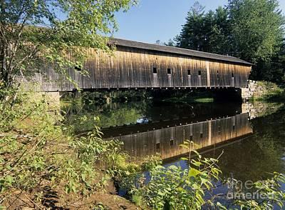 Hemlock Covered Bridge - Fryeburg Maine Usa. Art Print by Erin Paul Donovan