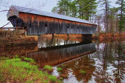 Hemlock Covered Bridge Fryeburg Maine Art Print