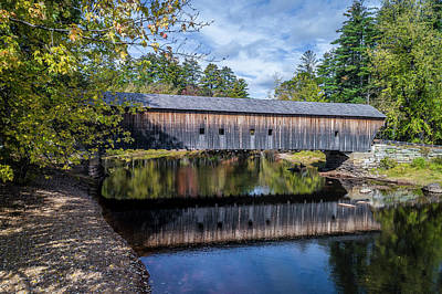 Photograph - Hemlock Covered Bridge by Gary Shepard
