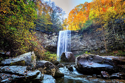 Photograph - Hemlock Falls At Cloudland Canyon by Debra and Dave Vanderlaan