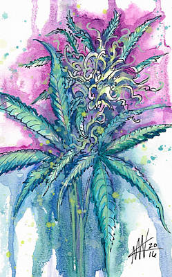 Painting - Hemp Blossom by Ashley Kujan