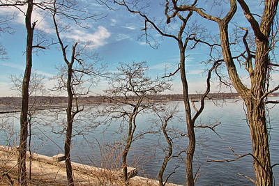 Photograph - Hempstead Harbor Through The Trees by Bob Slitzan