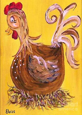 Country Painting - Hen Nesting by Eloise Schneider