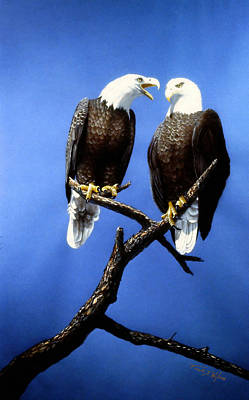 Painting - Hen Pecked Eagle by Frank Wilson