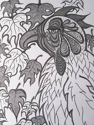 Passionate Drawing - Hen by Rosita Larsson