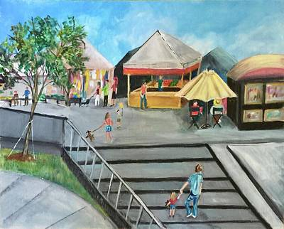 Painting - Henderson Farmers Market 2 by Charme Curtin