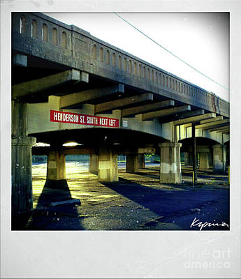 Photograph - Henderson St Bridge, Ft.worth Texas by Greg Kopriva
