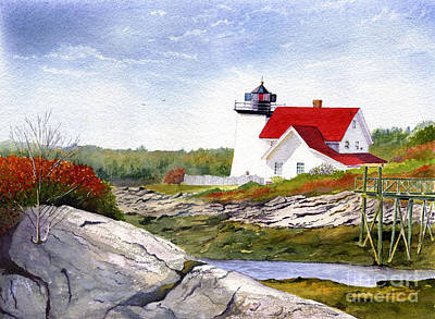 Maine Landscapes Painting - Hendrick's Head Light by Heidi Gallo