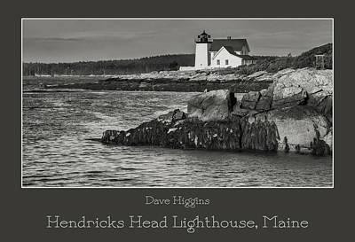 Digital Art - Hendricks Head Lighthouse, Maine by Dave Higgins