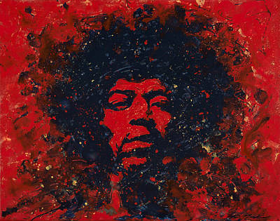 Hendrix Art Print by Chris Mackie