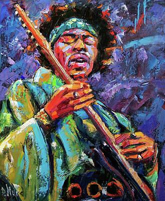 Hendrix Print by Debra Hurd