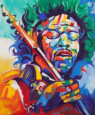 Gustavo Oliveira Painting - Hendrix Experience by Gustavo Oliveira