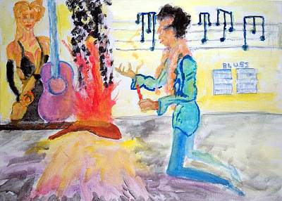 Painting - Hendrix Experience by Stanley Morganstein