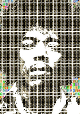Digital Art - Hendrix In Black by Gary Hogben