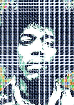 Digital Art - Hendrix In Blue by Gary Hogben