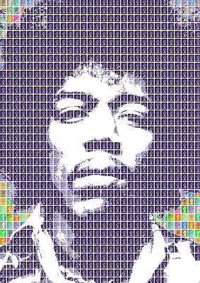 Digital Art - Hendrix In Purple by Gary Hogben