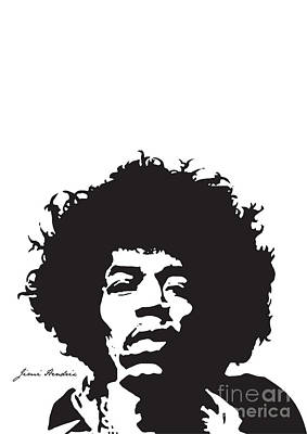 Illusttation Digital Art - Hendrix No.01 by Caio Caldas