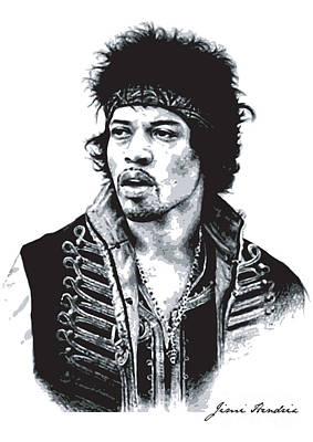 Rock N Roll Digital Art - Hendrix No.02 by Caio Caldas