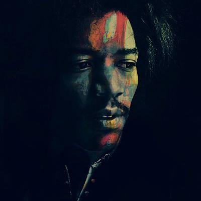 Celebrity Digital Art - Hendrix  by Paul Lovering
