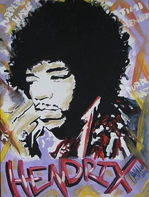 Painting - Hendrix Thoughts by Antonio Moore