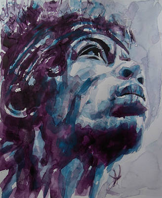 Jimi Painting - Hendrix Woodstock  by Paul Lovering