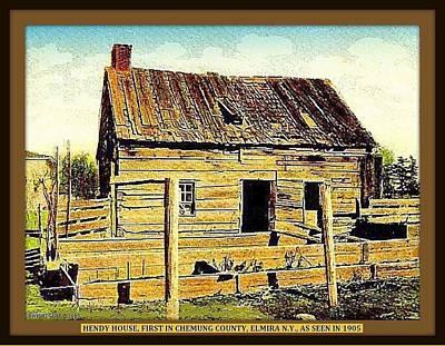 Homestead Mixed Media - Hendy Homestead, Elmira N Y, 1905 by Dwight GOSS