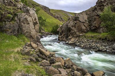Photograph - Hengifossa Iceland by Thomas Schreiter