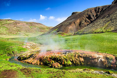 Photograph - Hengill Geothermal Area Iceland by Matthias Hauser