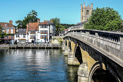 Photograph - Henley And The Angel On The Bridge by Ken Brannen