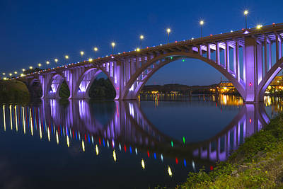 Knoxville Photograph - Henley Bridge In Knoxville Tn by Mike McGlothlen