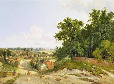 Village Scene Painting - Henley On Thames by Arthur Gilbert