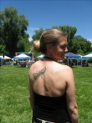 Drawing - Henna Dragonfly by An Array of Artistry