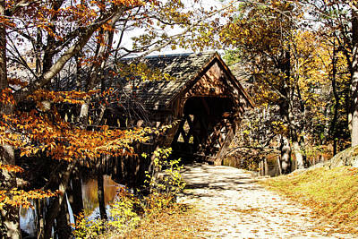 Photograph - Henniker Covered Bridge New Hampshire by Jeff Folger