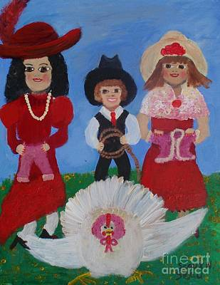 Creole Painting - Henny Penny Don't Want To Dress by Seaux-N-Seau Soileau