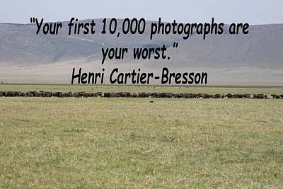 Photograph - Henri Cartier-bresson Quote by Tony Murtagh