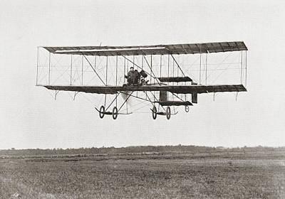 The Aviator Drawing - Henri Farman Winning The Grand Prix Of by Vintage Design Pics