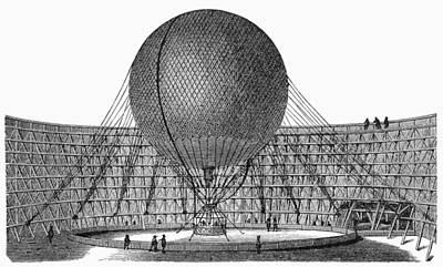 Henri Giffard: Balloon Art Print by Granger