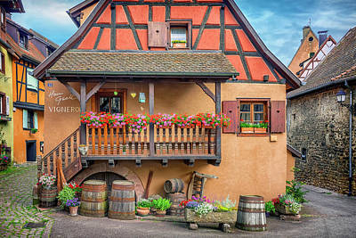 Photograph - Henri Gsell Winery Eguisheim France_dsc7277_16 by Greg Kluempers