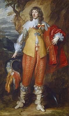 Henri II De Lorraine Art Print by Sir Anthony Van Dyck
