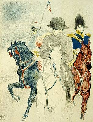 Mixed Media - Henri Toulouse Lautrec - Three Horsemen - Vintage Poster by Studio Grafiikka