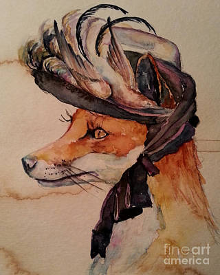 Art Print featuring the painting Henrietta Fox by Christy  Freeman