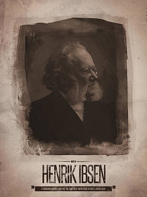 Quote Digital Art - Henrik Ibsen by Afterdarkness