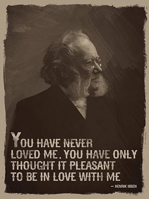 Sepia Digital Art - Henrik Ibsen Quote by Afterdarkness