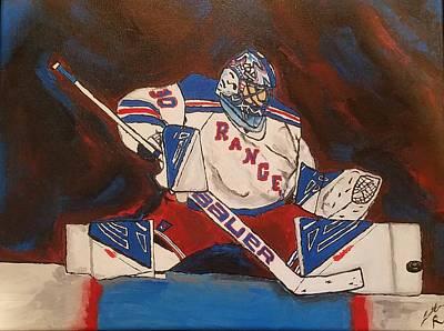 Henrik Lundqvist Painting - Henrik Lundqvist New York Rangers Nhl by Jonathan Russo