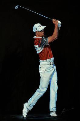 Painting - Henrik Stenson by Mark Robinson